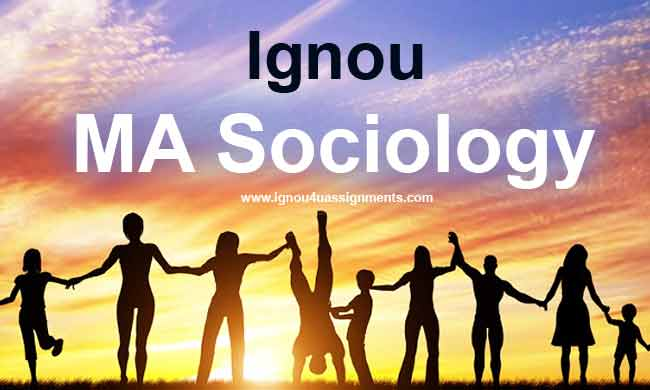 admission to Ignou MA Sociology programme