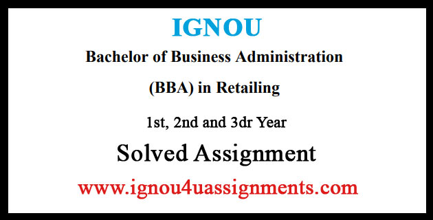 IGNOU BBARL Solved Assignment