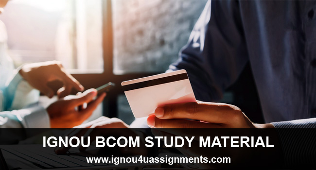 IGNOU BCOM Study Material Free Download