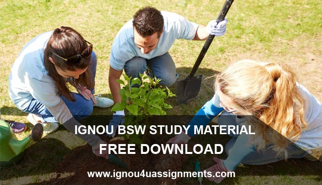 IGNOU BSW Study Material Free Download
