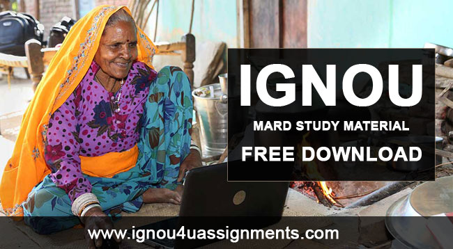 IGNOU MARD Study Material Free Download
