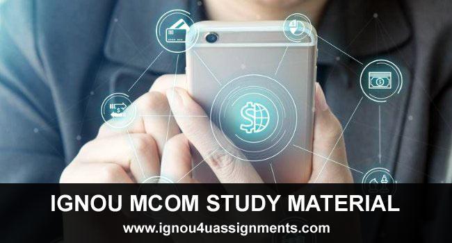 IGNOU MCOM Study Material & Books