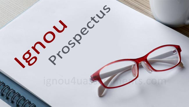 Ignou prospectus download pdf