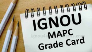 Ignou MA psychology Grade Card (MAPC)