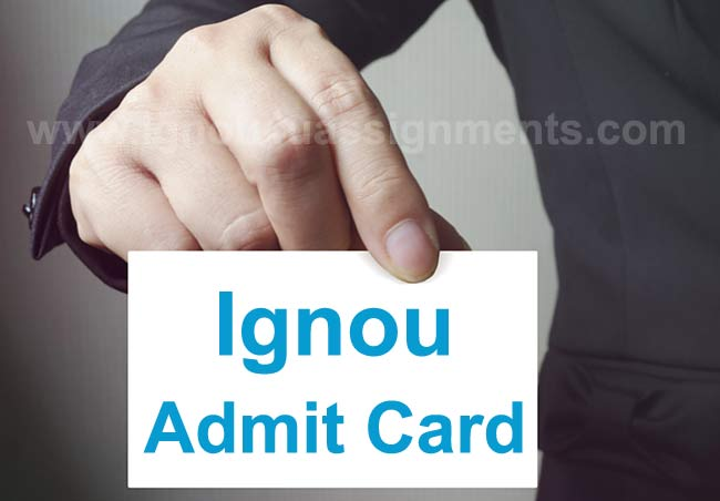 Download Ignou admit card