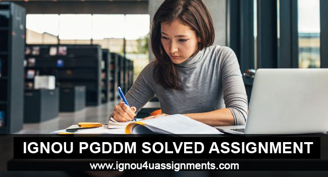 IGNOU PGDDM Solved Assignments